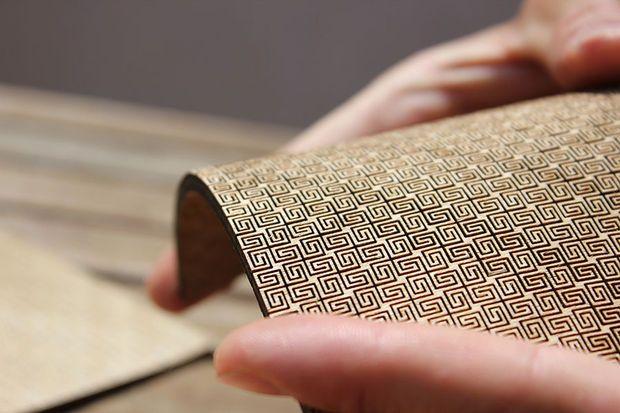 Super Flexible Double Curvature Surface Laser Cut