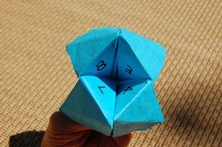 Fortune teller..been a while since I made one
