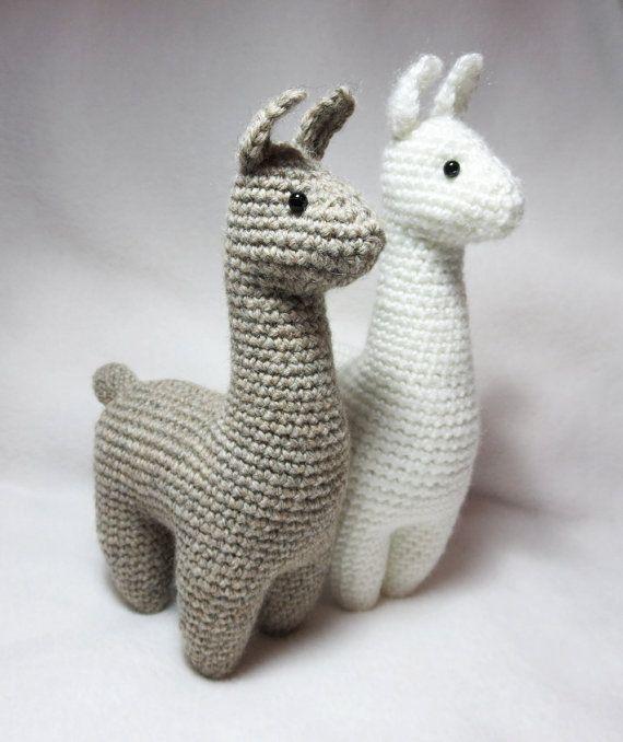 Patrón de crochet: Llama Amigurumi felpa