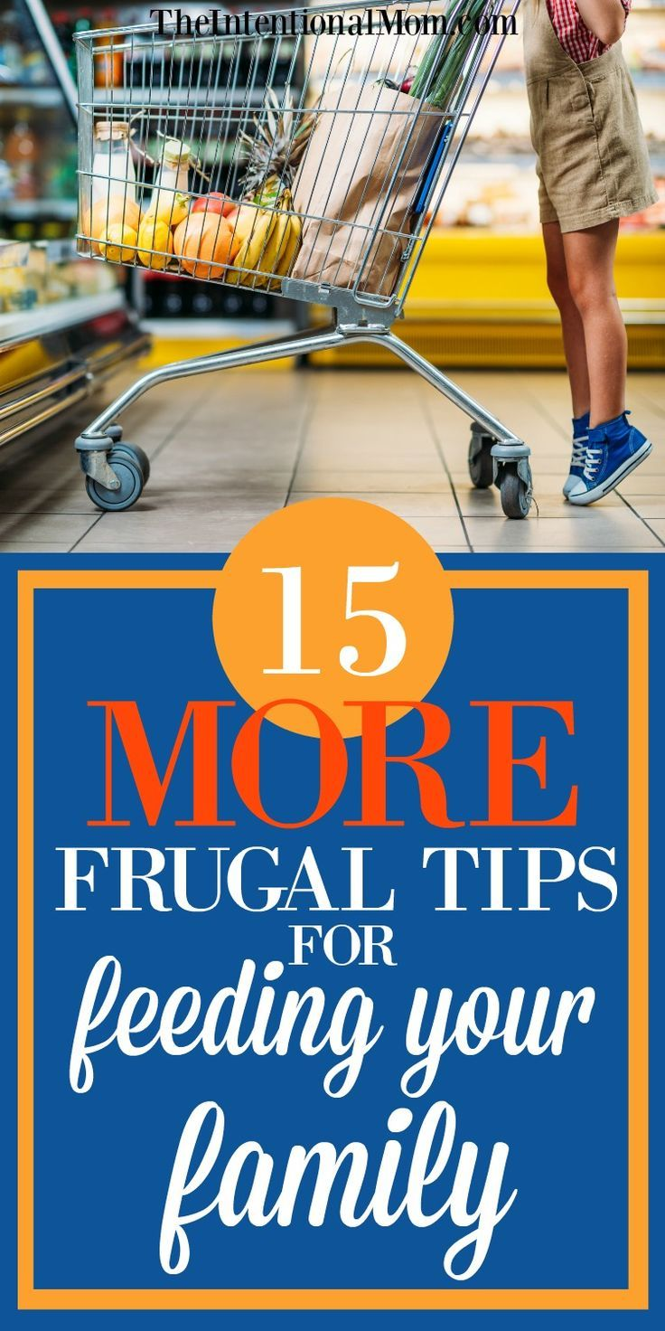 Looking to stretch the family dollar while feeding your family? This encore list of 15 MORE frugal tips from a mom to 8 kids shares her EASY tips with you! #frugaltips #savingmoney #grocerytips via @www.pinterest.com/JenRoskamp