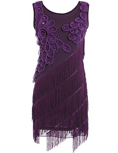 British Womens 1920s Art Deco Gatsby Petal Fringe Ornate Plus Size Flapper Dress #British #UK #PlusSize #FashionBug #Dress #Rockabilly #Retro #PinUp #Vintage #1920