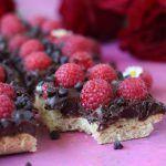 Chocolate Chip Raspberry Shortbread Cookie Bars  