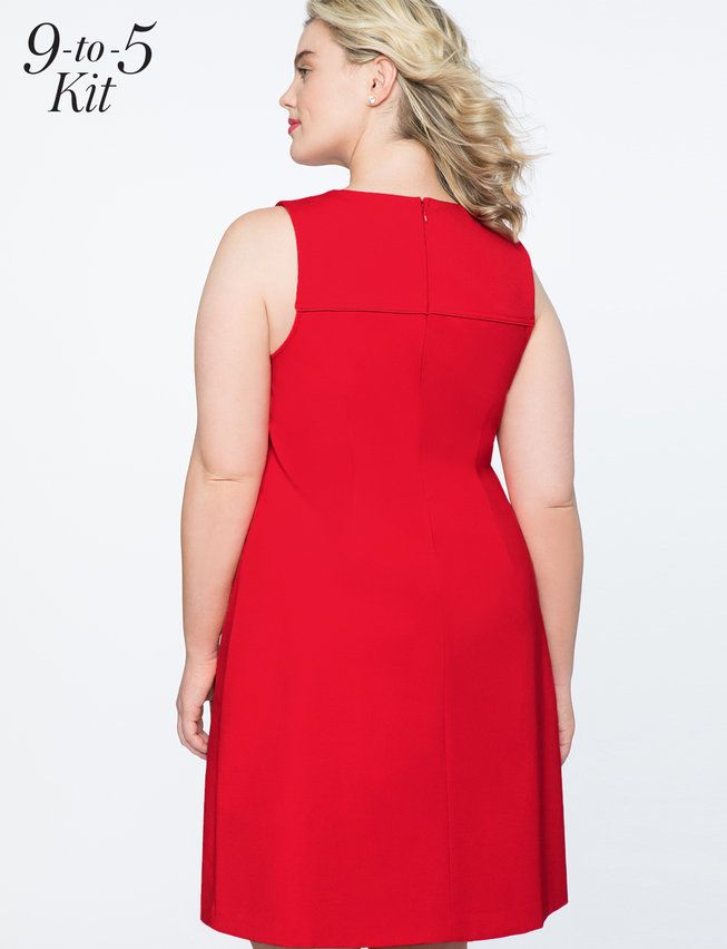 7923c881ec191 9-to-5 Sleeveless Stretch Work Dress   Women's Plus Size Dresses ...
