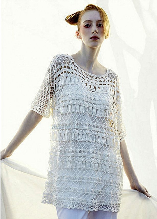 Openwork crochet tunic (Japan). Discussion on LiveInternet - Russian Service Online diary