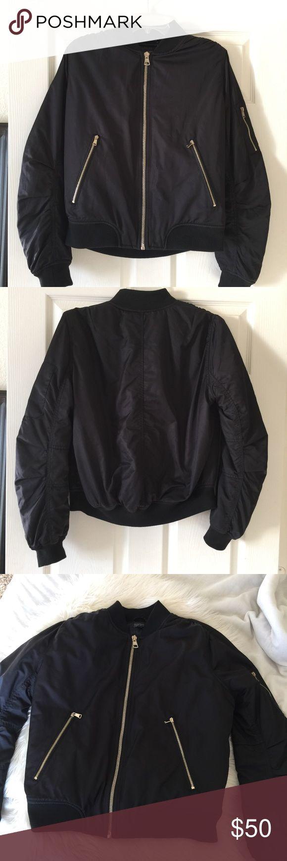 Topshop Bomber MA1 Zip Bomber Jacket Topshop Bomber MA1 Zip Bomber Jacket. 100% Polyester. Dry Clean Only. Topshop Jackets & Coats