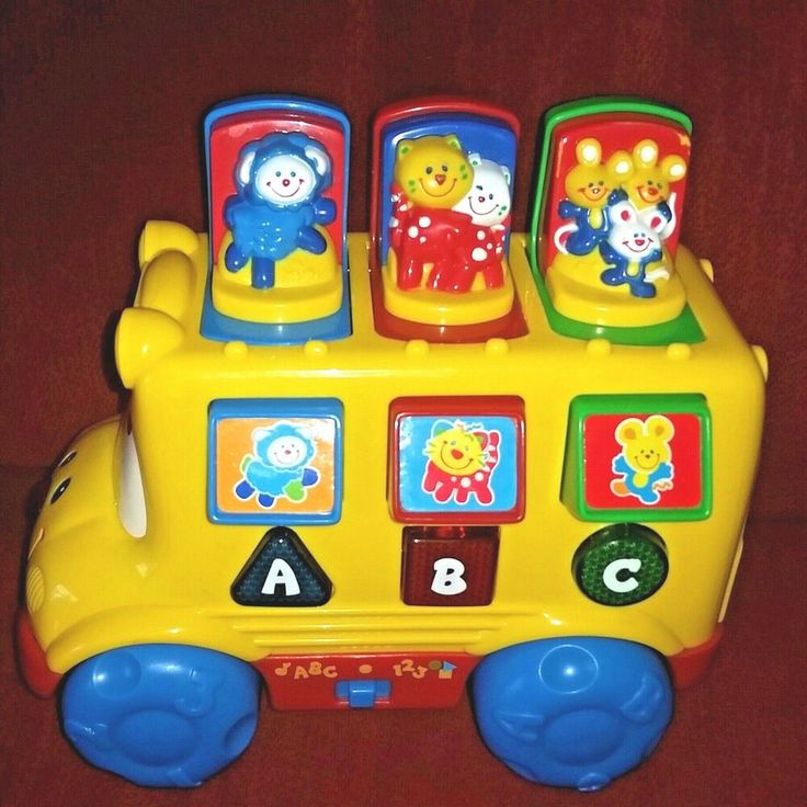 Wheels on the bus with Fisher Price My Little People ...  |Fisher Price Bus Nursery Rhymes