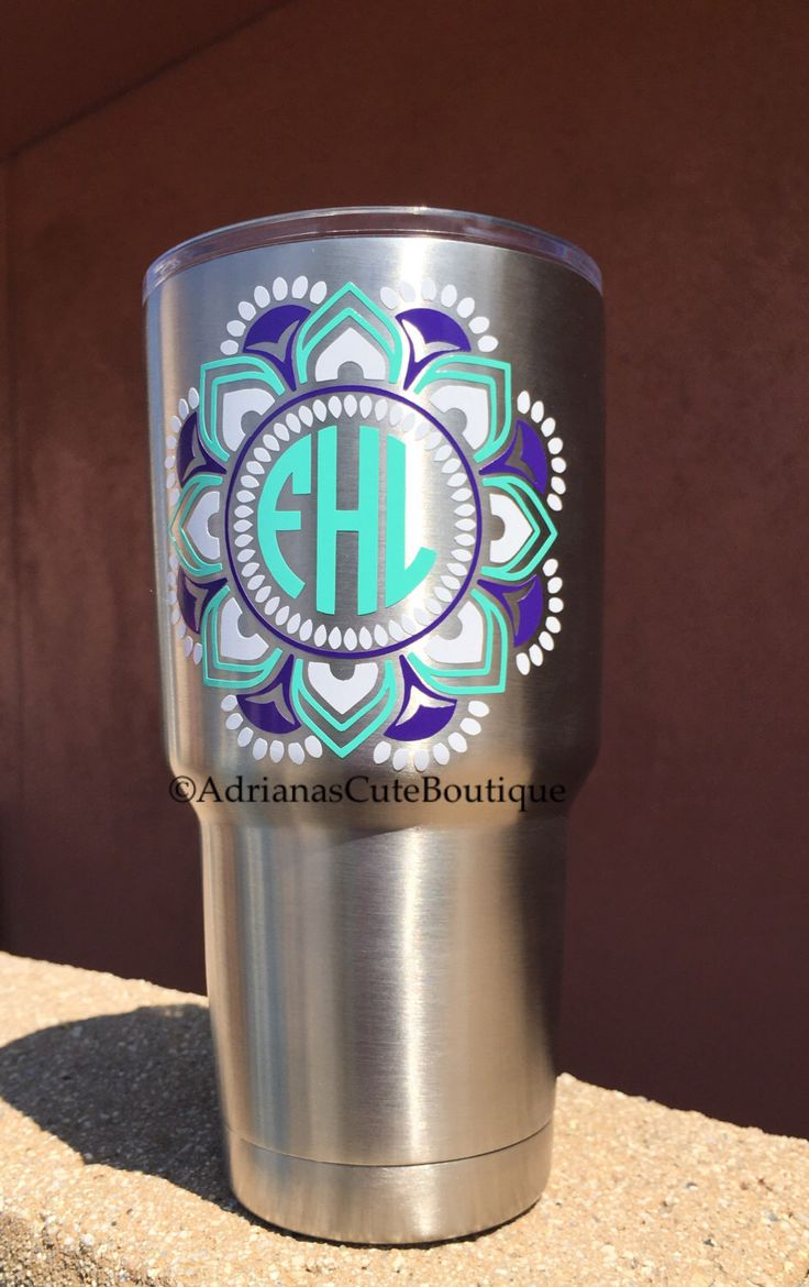 A personal favorite from my Etsy shop https://www.etsy.com/listing/464771681/monogrammed-ozark-tumbler