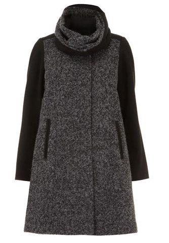 Evans Grey Snood Coat #plussize