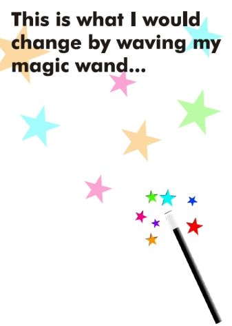 Love this, asking the student what they would change. It's a line I have used in my office for years, magic wand or pixie dust.  (: