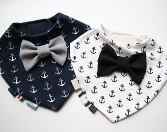 Baby bib boy Baptism bib bow tie bib baby bandana bib