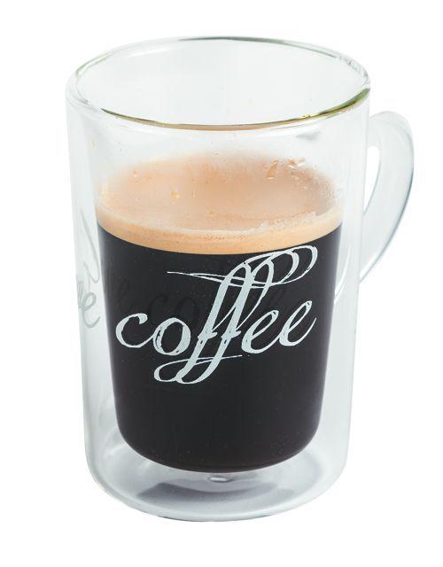 Szklanka z podwójnymi ściankami I LOVE COFFEE 250ml 8x11,5 cm MAISON THE TEA