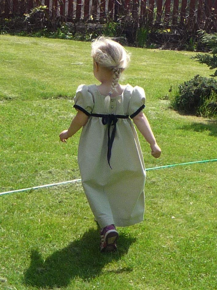 1814 girls regency gown