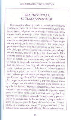 ORACION CIENTIFICA PARA ENCONTRAR EL TRABAJO PERFECTO - CONEXION UNIVERSAL