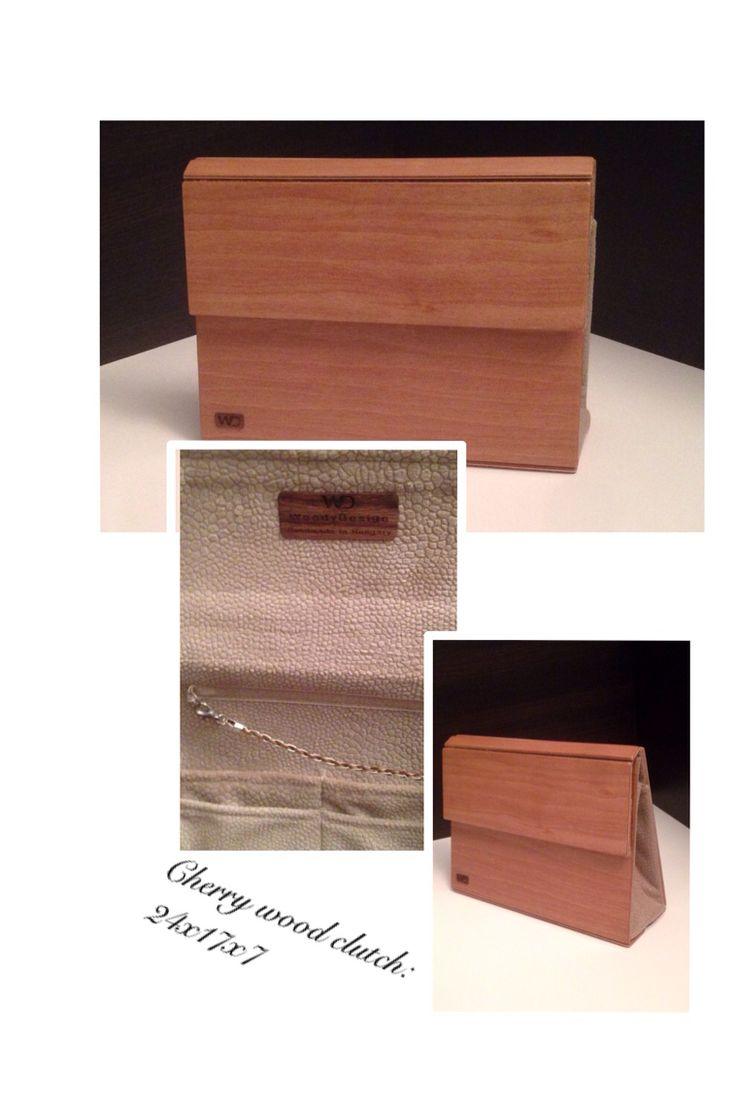 Cherry wood clutch by Silkwood design