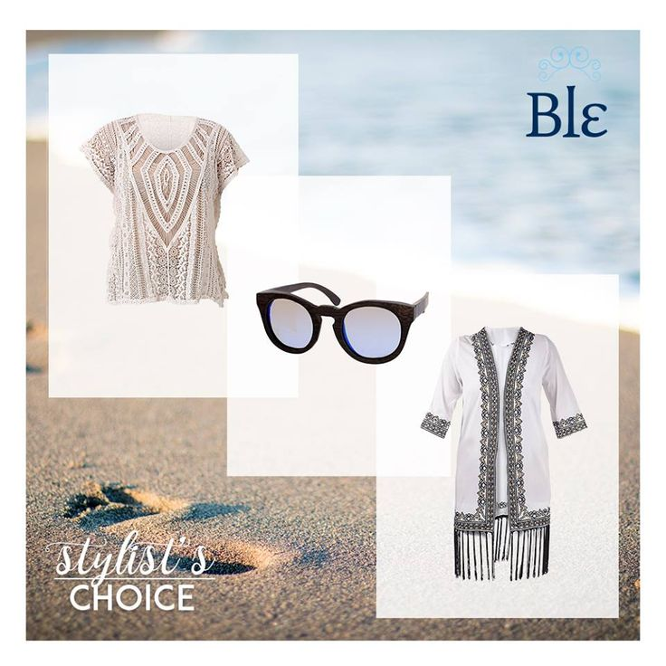 In need of an extra smart and cool look? Go for a knitted blouse, a black & white extra glam kimono and your favourite pair of sunglasses! Find them all at www.ble-shop.com #365summerst