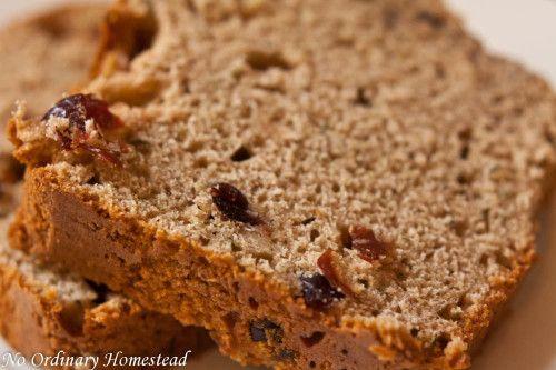 healthier recipe for zucchini bread, toast it and eat similar to cinnamon raisin bread