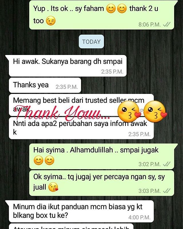 Thank you sweet Cust😘😍 . . . . ✔ TRUSTED SELLER SINCE AUGUST 2016. . ❣ SKKM by WawaIrfan introduced as early of March 2016. Packaging diupgradekan in April 2016 . Thank You Trust Us 🌸  Enjoy drink Susu Kambing and Hope give more more more benefit to u guys❣ . . Whatapp : 011-16253380 Whatapp : 011-16253380 Whatapp : 011-16253380 . #skkm #skkmv #susukambingkurmamaduVanillabywawairfan #bywawairfan #Gwy #makeup #naturalbeauty  #skkmpahang #skkmperlis #sabah #sarawak #skkmsabah #skkmsarawak…