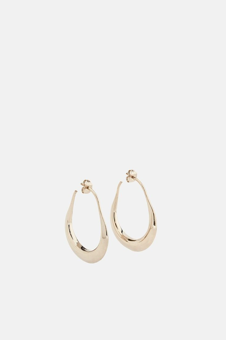 Lemaire Hoop Drop Earrings - Gold | The Line