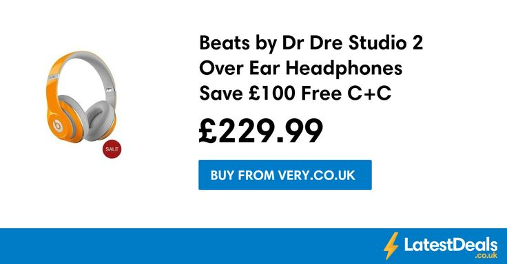 Beats by Dr Dre Studio 2 Over Ear Headphones Save £100 Free C+C, £229.99 at Very.co.uk