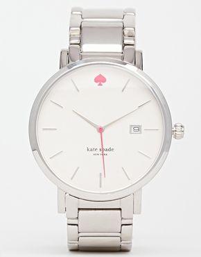 Kate Spade Gramercy Grand Silver Watch
