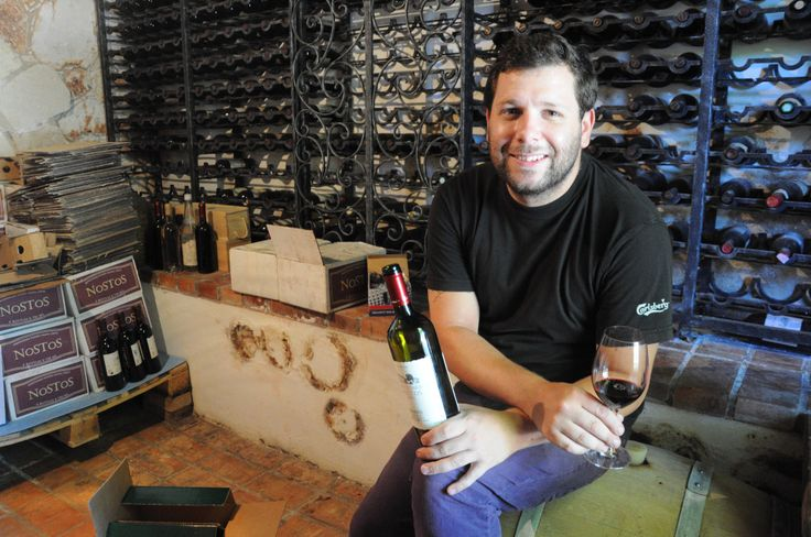 Sommelier, Afshin Molavi at the wine basement of Manousakis Winery. Afshin Molavi is the best guide you can get around the winery!