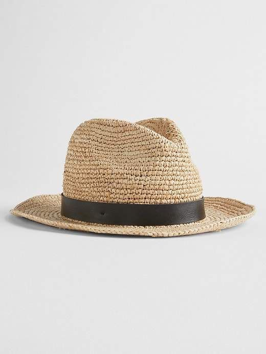 Gap Packable Straw Fedora  6894d04cdfa