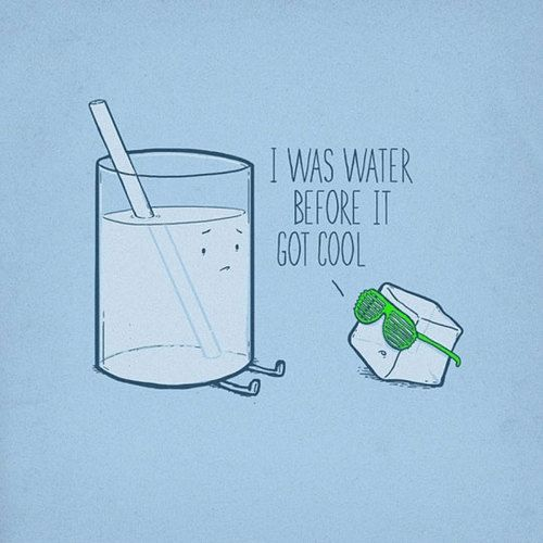 .#sterilght: Water, Funny Facts, Ice Cubes, Ice Ice Baby, Funny Pictures, Mornings Coff, Friday Funny, Hipster Ice, Funny Puns
