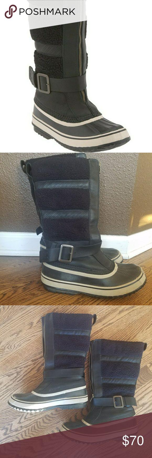 SOREL Helen of the Tundra Boots Size 9 waterproof SOREL boots. Black on black. Sorel Shoes Winter & Rain Boots