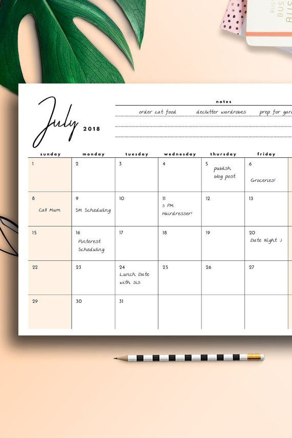 Desk Calendar 2019 2020 Printable Us Letter Large Wall Planner