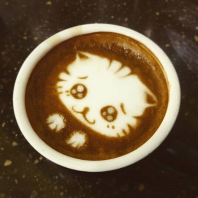 Hey there, kitty. #latteart #coffee #cats