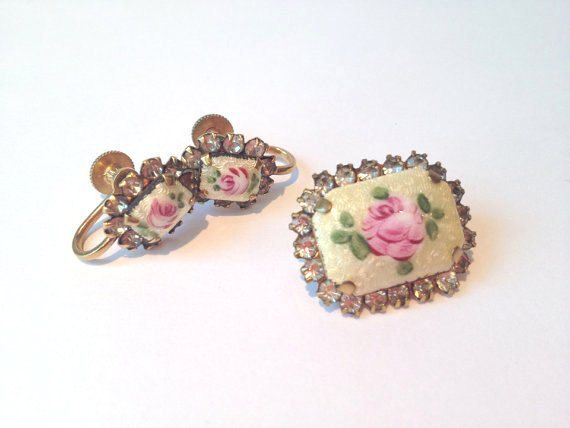 Dainty Vintage guilloche and rhinestone mini by VintageSoulGeek, $16.00