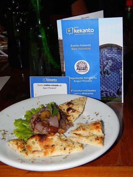 Degustação Italiana na Auguri Pizzaria