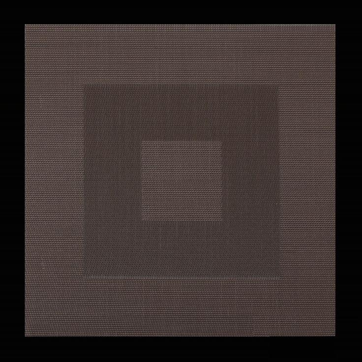 Brązowe kwadratowe dekoracyjne podkładki na stół