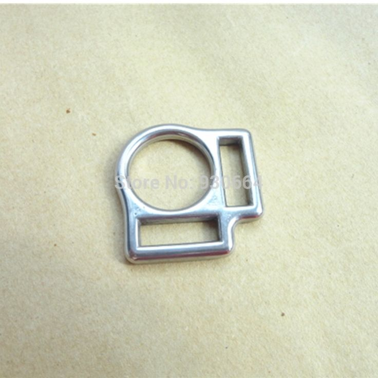 20PCS/Lot Wholesale Stainless Steel Horse Halter Square Buckle With 2 Slots Inner width2cm P009