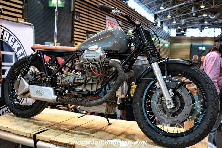 B F #28 GUZZI 850 T3 - Salon du 2 roues - Lyon - 2016 #BFMotorcycles #BobberFucker