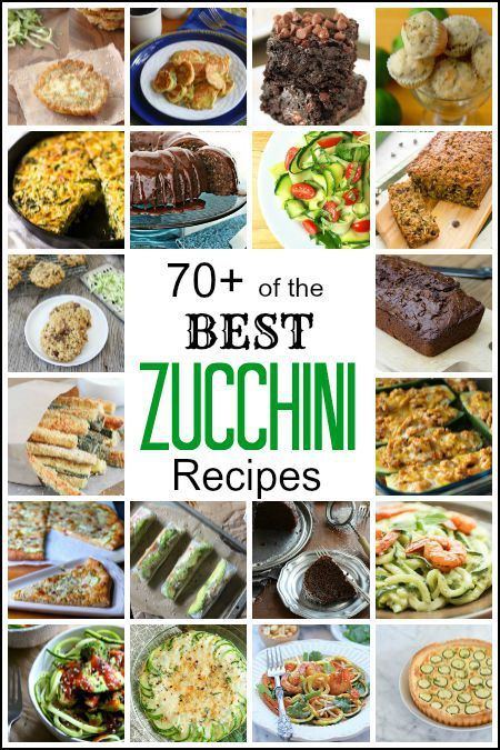 Best Zucchini Recipes - 70+ of the best zucchini recipes including a recipe for zoodles, zucchini breads, muffins, fries, brownies, cakes, cookies, casserole, and more! | SnappyGourmet.com