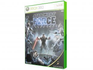 Star Wars: The Force Unleashed para Xbox 360 - LucasArts. Jogo da série Star Wars, ambientado entre os episódios III e IV da saga, onde você deve escolher entre ser um cavalheiro Jedi ou servir Darth Vader. https://www.magazinevoce.com.br/magazinelojaprincipal/p/star-wars-the-force-unleashed-para-xbox-360-lucasarts/51734/