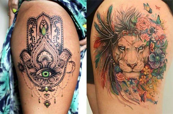 Pin En Tatuajes Pierna Mujer