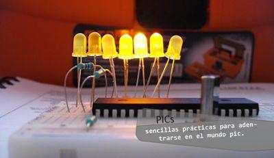 Programas sencillos para el microcontrolador PIC16F877A. | CIRCUITOS ELECTRONICOS