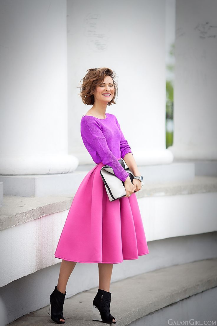 3.1 phillip lim minute clutch on colorblocked outfit by Galant Girl.