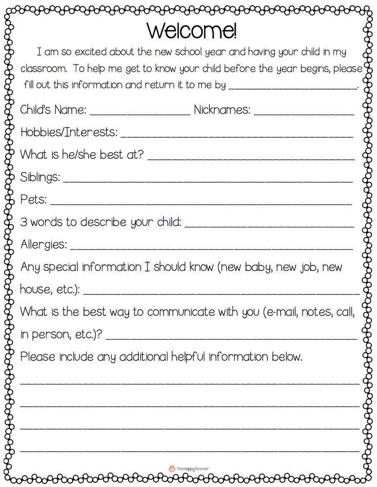 Establish positive homeschool relationship with parents