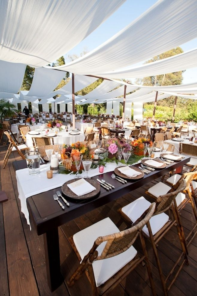 Ralph Lauren Meets Safari Wedding designed by La Fete Weddings. Outdoor Fabric draping and canopy, hard wood subfloor in Santa Barbara. Safari Wedding » Ooh LaLa La Fete