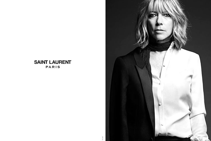 Saint Laurent Paris Hedi Slimane campana estrellas de rock - Kim Gordon