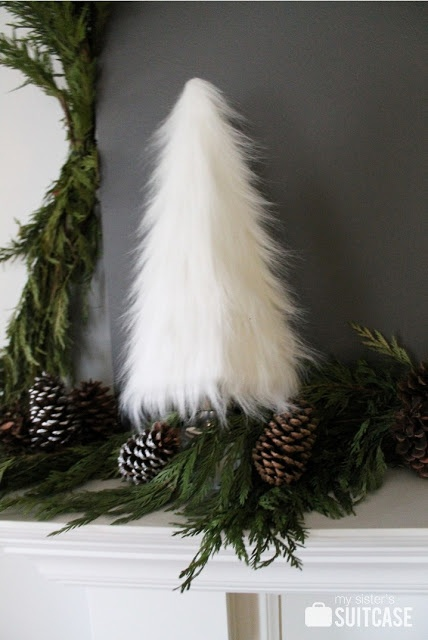 Easy DIY faux fur tree via My Sister's Suitcase #DIY #tree #fur