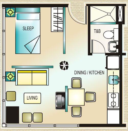 Civic Prime Tower - Home Office Floor Plan #manila #realEstate #condoForSale www.mymanilacondo.com/