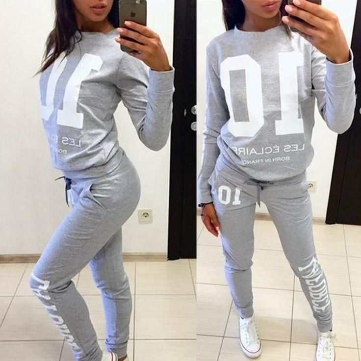 Gymshark basculador sudadera de manga larga pantalones 2 unidades set Mujeres Casual Set de dos piezas traje de conjunto chandal mujer completo