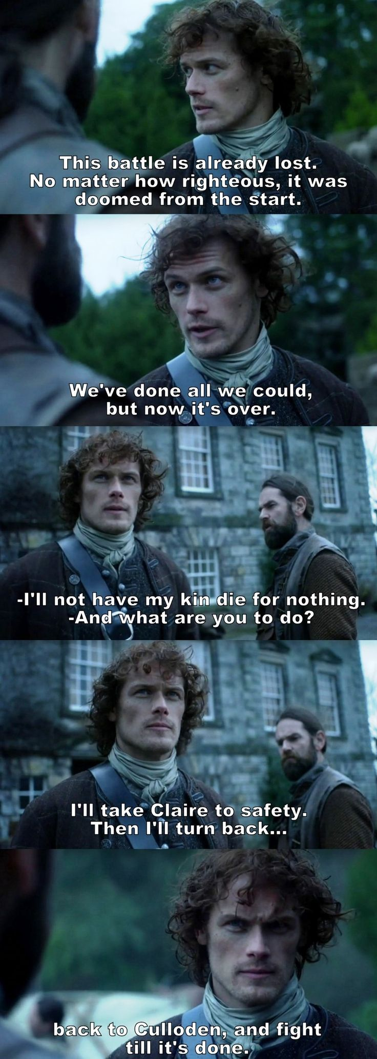 Outlander Season 2 Finale. Jamie and Murtagh.