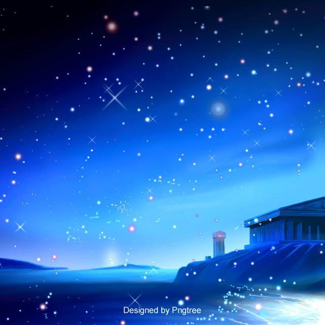 الأزرق خلفية رومانسية نجم البحر تصميم Background Design Background Nature