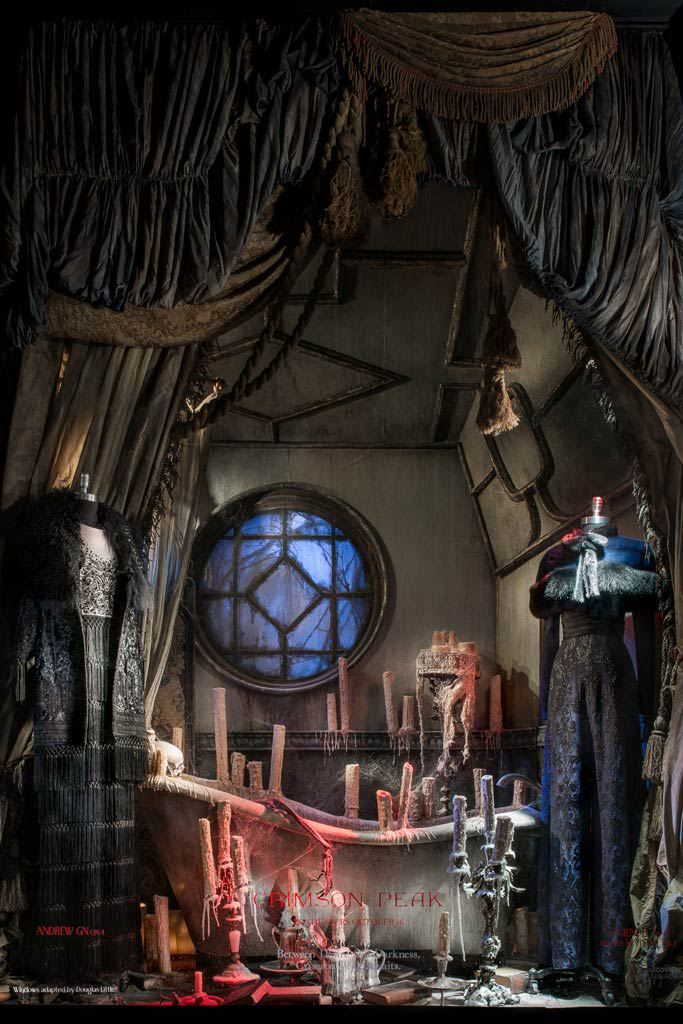 "Bergdorf Goodman's new windows, inspired by scenes from ""Crimson Peak."" Courtesy of Ricky Zehavi."