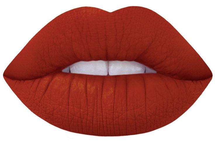 'pumpkin' (brick red) limecrime velvetine lipstick